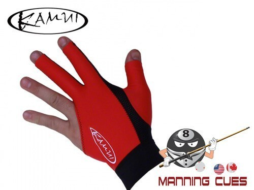 Kamui Red Billiard Glove For Left Hand