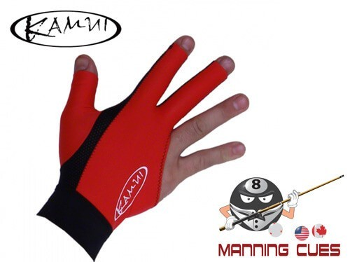 Kamui Red Billiard Glove For Right Hand