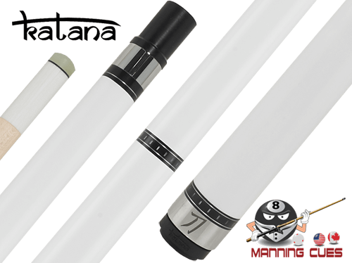Katana Break Cue with White Ferrule G10 Tip - KATBK03