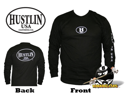 Hustlin Long Sleeve Shirt - Black Mens