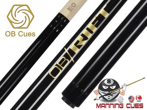 OB Rift Black Wrapless Break Cue
