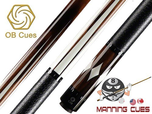 OB 170 Ebony Pool Cue with 6 Point