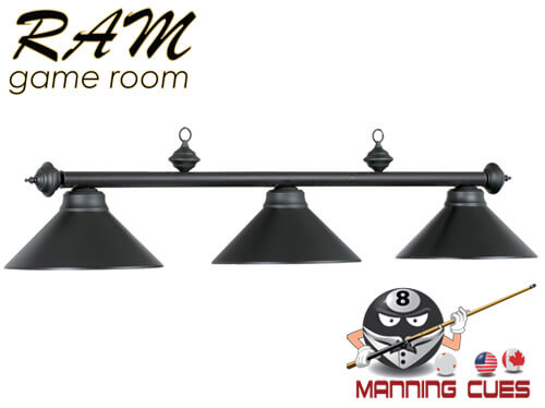 Economy matte black metal 3 light fixture