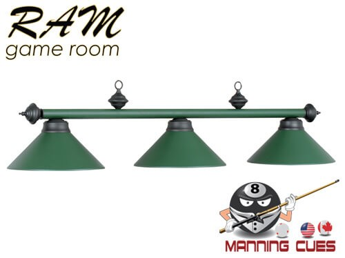 Economy matte green metal 3 light fixture