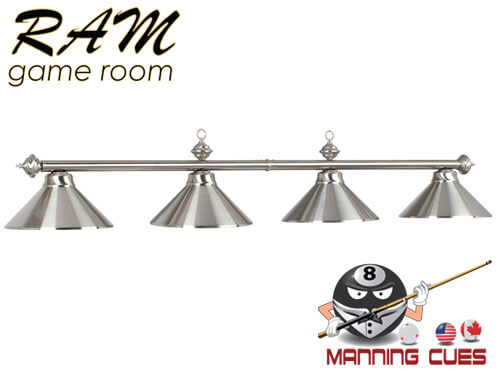 Economy stainless metal 4 light fixture