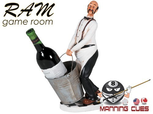 Waiter Wine Caddie With Bucket Statue