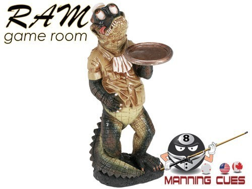 Gator Waiter Statue