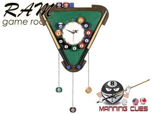 Pub Sign Billiards Clock
