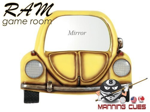 Yellow Car with Mirror