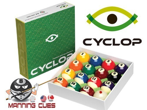 Cyclop Traditional Color Pool Ball Set