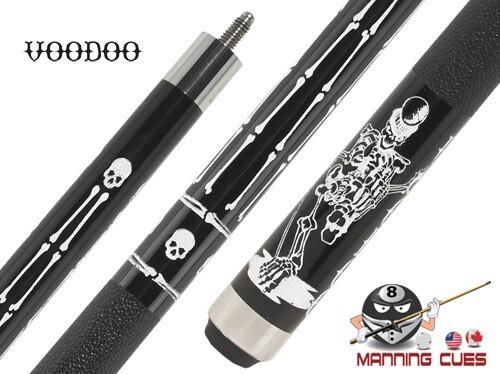 Voodoo Black & White VOD32 Boned Pool Cue