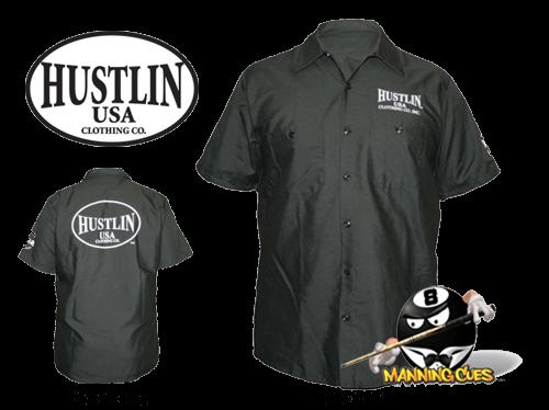 Hustlin Work Shirt - Black Mens