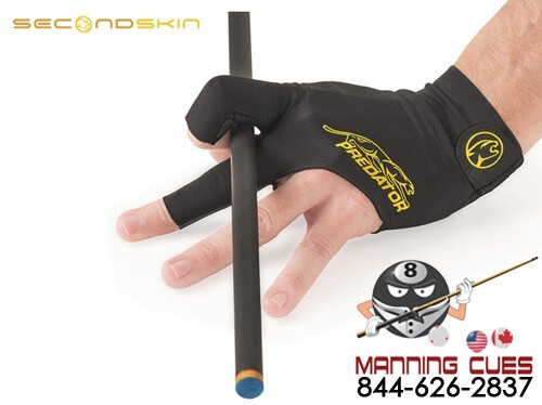 Predator Second Skin Black and Yellow Pool Cue Glove