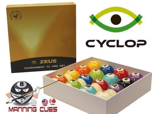 Cyclop Zeus Pro TV Tournament Pool Ball set