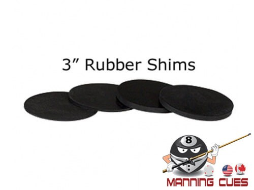 """3"""" Rubber Pool Table Leg Shims"""
