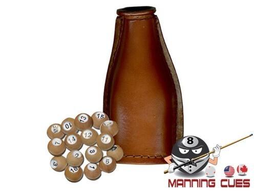 Leather Shake Bottle With Wood Pool Balls