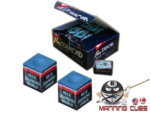 Blue Diamond Pool Chalk Case 25 2pc boxes