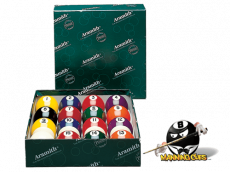 Aramith Black Pool Ball Set