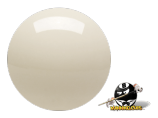 "Aramith 2 1⁄4"" Magnetic Cue Ball Solid White Cast Phenolic"
