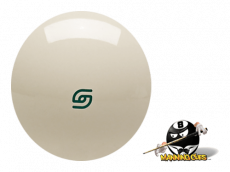 "Aramith 2 1⁄4"" Magnetic Cue Ball with Green Logo Cast Phenolic"