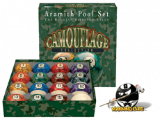 Camouflage Aramith Pool Ball Set