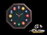 Octogon Billiard Clock