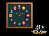 Square Billiard Clock