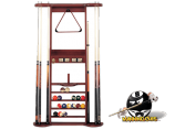 7 Cue Wall Rack with Short Cue Clip