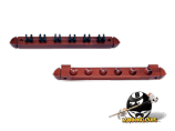 2-Piece 6 Cue Wall Rack with Clips