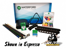 Waterford Espresso Pool Table Play Package