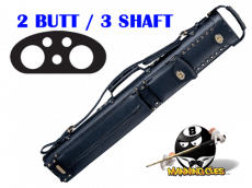 Instroke 2B/3S Black Leather Cowboy Cue Case