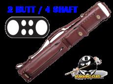 Instroke 2B/4S Chestnut Leather Cowboy Cue Case