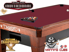 Championship Invitational Teflon Cloth - Burgundy