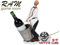 Waiter Wine Caddie With Bucket Statue