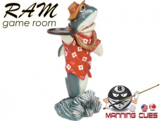 """Shark Waiter 33""""H Statue"""