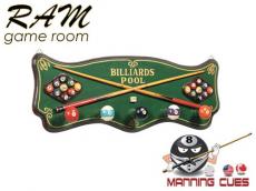 Billiards Coat Rack