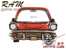 Red Car with Mirror