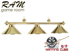 Economy polished brass metal 3 light fixture