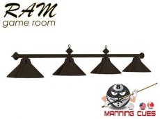 Economy matte black metal 4 light fixture
