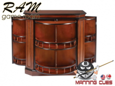 Bar Cabinet Solid Wood with Spindle